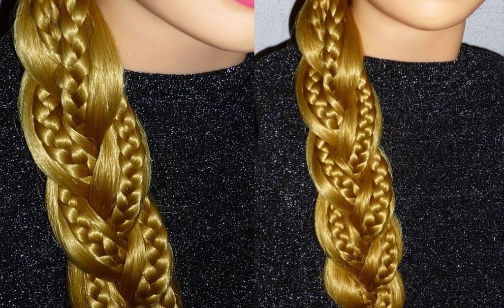 Оригинальная ажурная боковая коса