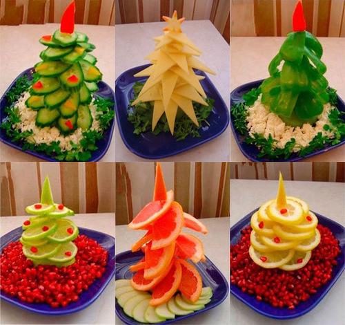 Украшения для блюд на новый год своими