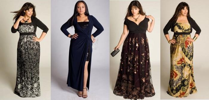 Вечернее платье на невысокую полную женщину