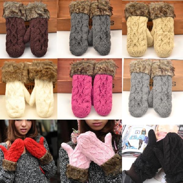 Модные тёплые варежки