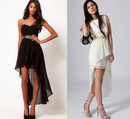 Платье спереди короткая сзади длинная