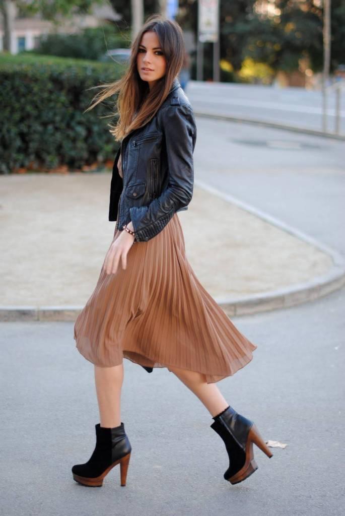 C чем носить юбки плиссе? +Фото