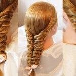 Простая коса с помощью резинок (Видео)