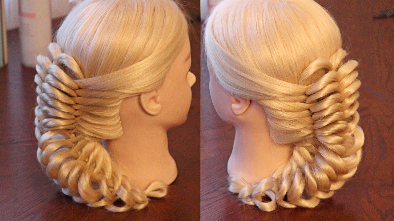 Пышная коса из резинок на длинные волосы