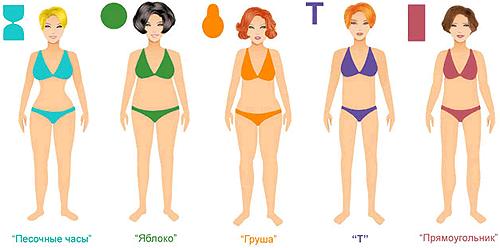 Типы женских фигур: Какие бывают и как определить свой тип фигуры?