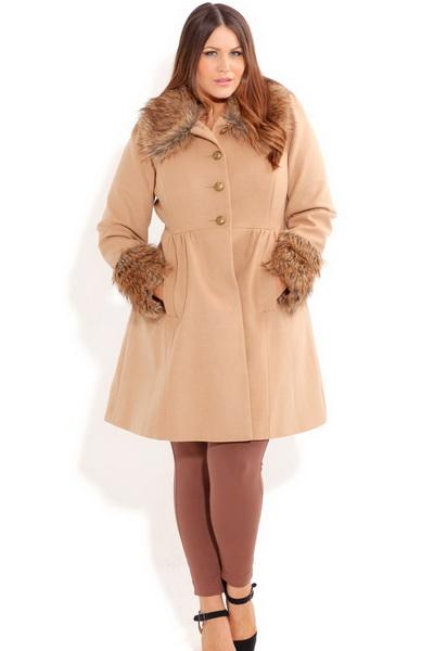 Одежда для полных женщин: Идеальное пальто (Фото)
