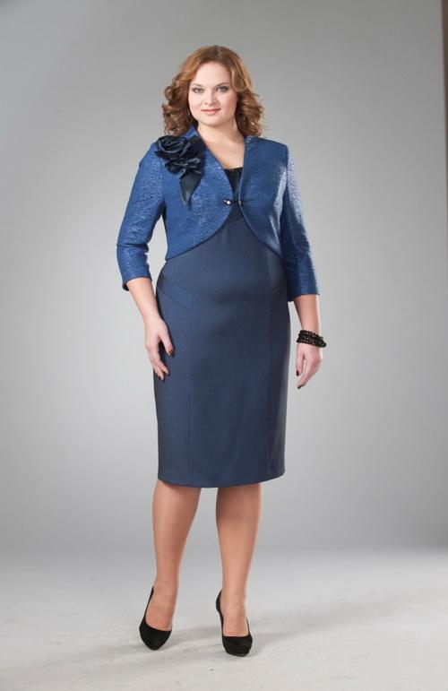 Одежда для полных женщин: Деловой костюм (Фото)