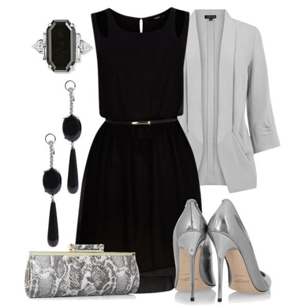 Луки с черными платьями фото