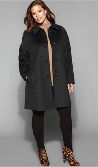 Идеальное пальто для полной женщины