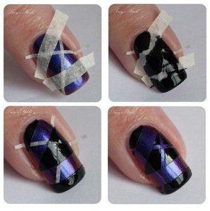 Рисунки на ногтях легкие