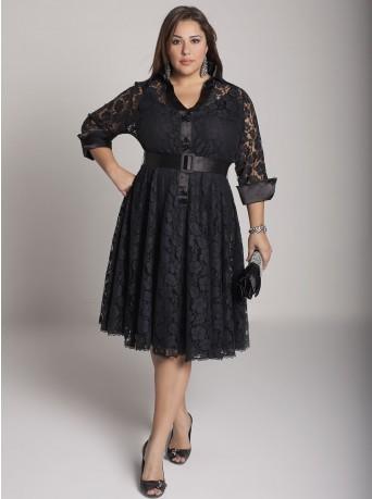 Одежда для полных женщин: Идеальное вечернее платье (Фото)