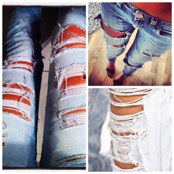 Женские хитрости: С чем носить рваные джинсы? +Фото