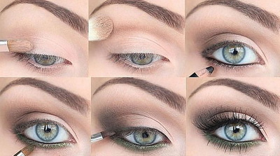 Макияж для голубых глаз: Пошаговые фото и видео
