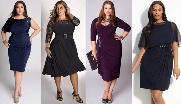 Фото фасоны платьев для полных девушек