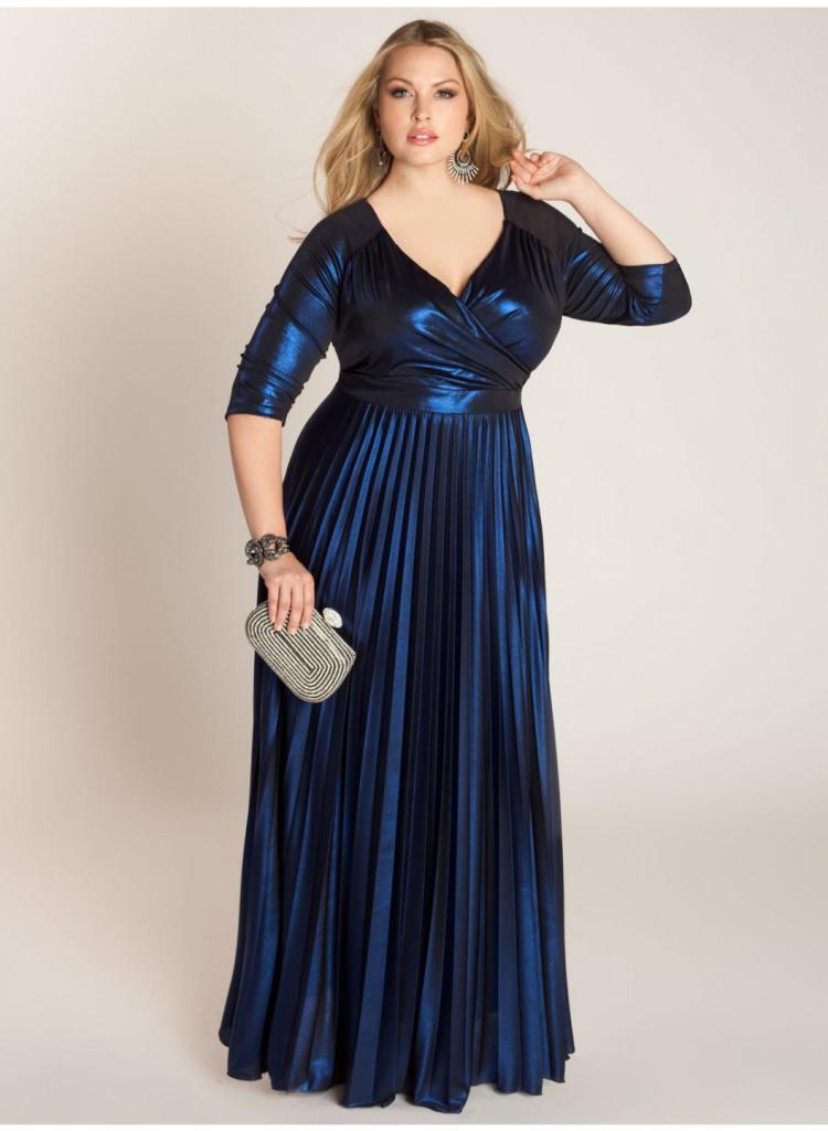 Платье на Новый год для полных Фото