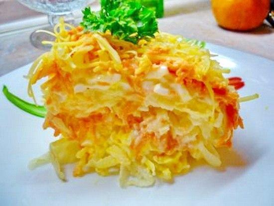 Легкий французский салат за 15 минут Видео