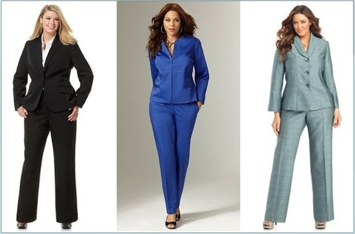 0d376d72d1b Одежда для полных женщин: Деловой костюм (Фото)