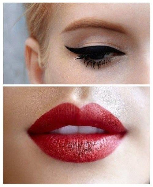 Уроки макияжа: Красные губы + Черные стрелки (Видео)