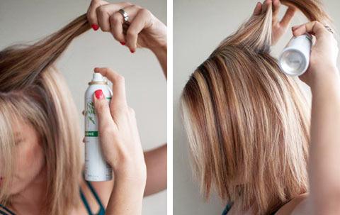 Как пользоваться сухим шампунем?