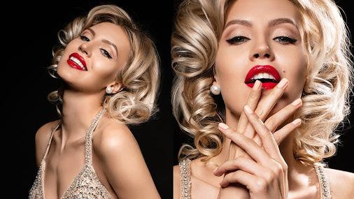 Современный макияж и прическа Мерлин Монро