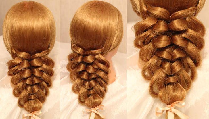 Невероятно объемная и оригинальная коса из резинок Видео