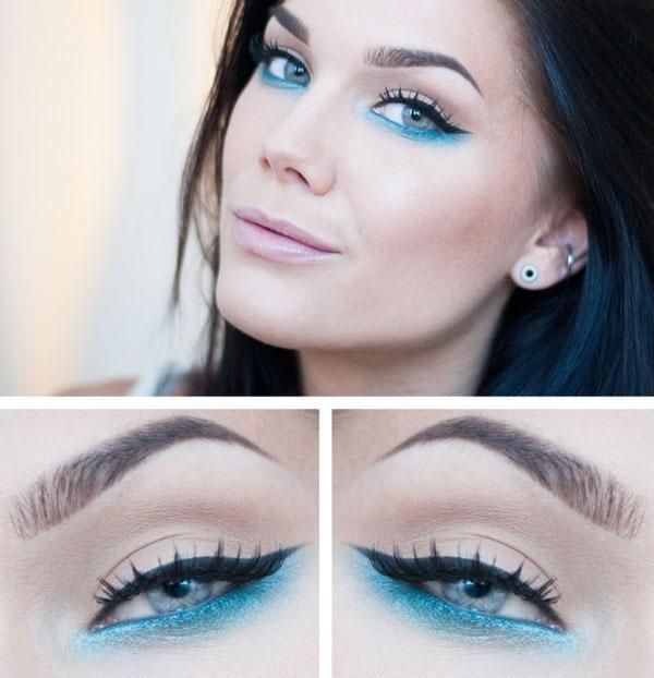 Вариант-голубого-макияжа-под-голубое-платье