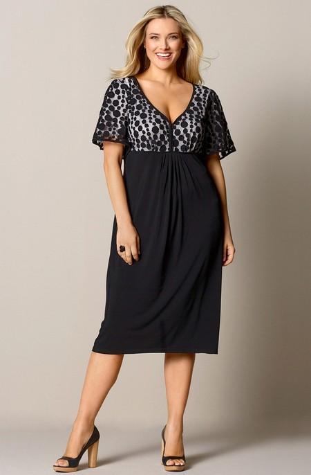 Одежда для полных женщин: Фасон платьев (Фото)