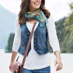 Женские Хитрости: 10 Идей с чем носить джинсовые жилет +Фото