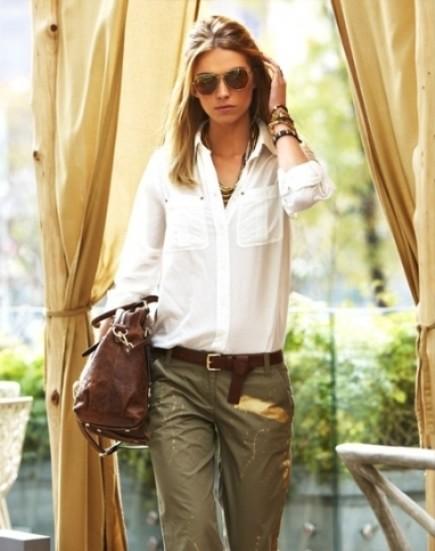 С чем носить одежду в стиле сафари?
