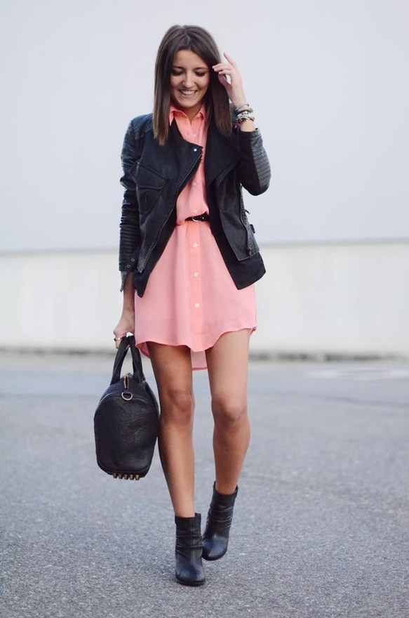 С чем носить короткое платье?